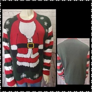 🔥Ugly Christmas Sweater large knit warm